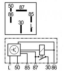 Relais de prechauffage Aixam moteur Kubota apres 1997