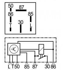 Relais de prechauffage moteur lombardini focs 7 broches