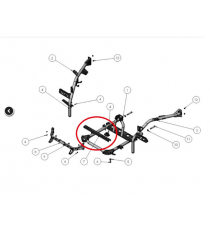 Traverse support moteur ligier xtoo, R , RS ,MICROCAR CARGO , Optimax (MOTEUR DCI)