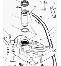 Reservoir de carburant Microcar MC1/MC2, MGO 1/2, M8, F8C, Ligier JS RC, Flex