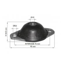 Silent bloc moteur boite chatenet barooder , speedino (2ème montage) entraxe fixation 75mm