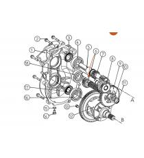 Arbre deuxième de réduction boite Comex Aixam721,741city,Scouty,Crossline,Roadline,Crossover,GTO(gamme Impulsion),Mega 2