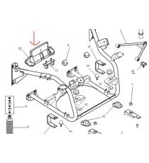 Support arriere Microcar MGO 1, MGO 2, M8, F8C, LIGIER JS RC (moteur lombardini Progress)